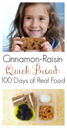 The Art of Comfort Baking: Cinnamon Raisin Quick Bread from 100 Days of Real Food. You can also read about how I had the opportunity to be a Cookbook Ambassador for this cookbook when it came out!
