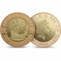 The 2011 UK Mary Rose £2 Gold Proof Coin. Celebrating 500 years since the maiden voyage of Henry VIII's Mary Rose.   MARY ROSE TRAGEDY AND RECOVERY - Through much of the remainder of Henry's reign Mary Rose remained a potent reminder to any of England's potential enemies that, in her navy, England had a force that any invader could only ignore at their peril. In 1545 the French mustered a vast fleet, larger than that of the later Spanish Armada, to challenge that assumption and brought it to…