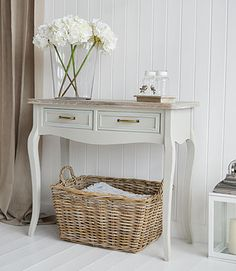 Inspirational Hall Table with Baskets