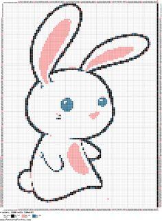 cute bunny cross stitch pattern