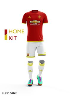 Some of you ask me to design Manchester United kits,sow I designed football kits for Manchester United for the upcoming season 16/17.