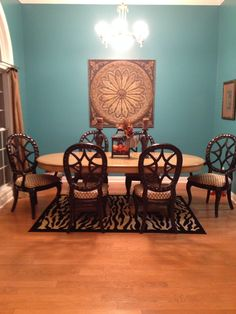 My turquoise dinning room.