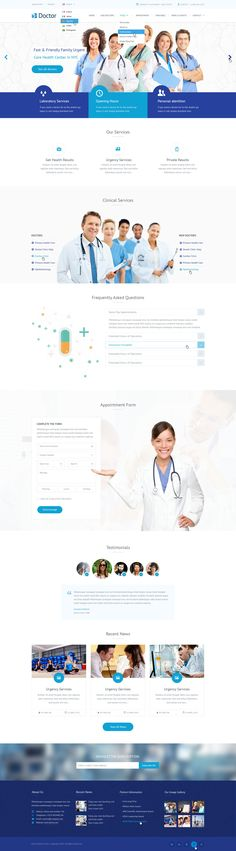 Buy Doctor - Health Clinical PSD Template by mustachethemes on ThemeForest. Update: E-commerce Pages What buyers said about our products Home Page Description Doctor – is a modern and unique P. Web Design Examples, Flat Web Design, Web Ui Design, Web Design Agency, Responsive Web Design, Design Design, Website Layout, Website Themes, Web Layout