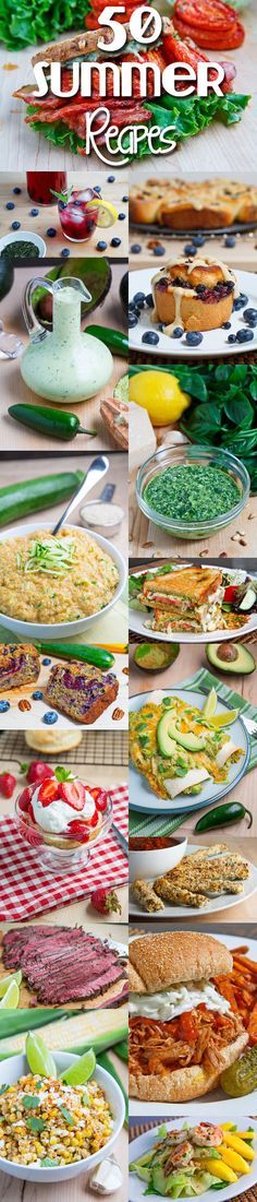 50 Summer Recipes--I am going to try a lot of these! Lots with zucchini and avocado...they look creative and healthy