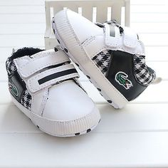 4d2955f76 Black Toddler infant Baby boy girl Soft Sole Crib Shoes sneaker size 0-18  Months