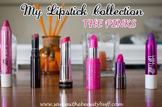 A look into the pink lipsticks in my makeup collection. Featuring swatches of lipsticks by Urban Decay, MAC, Bellapierre, Laqa & Co, NYC, Pop Beauty, Revlon, CoverGirl, and more!