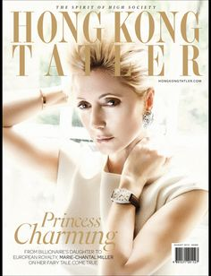 Princess Marie-Chantal has been interviewed and photographed for the August 2013 issue of Hong Kong Tatler.