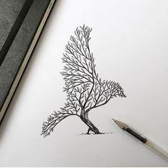 Bird Tree By @alfredbasha  _ @artshelp