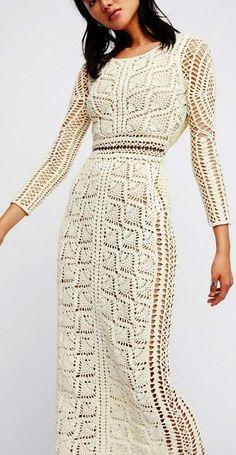 Crochet Dresses 1 (363x700, 265Kb) - Black Crochet Dress, Knit Dress, Crochet Tunic, Crochet Baby, Dress Black, Crochet Summer, Irish Crochet, Crochet Wedding Dresses, Crochet Dresses