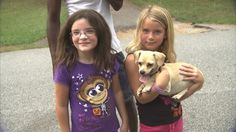 NEWNAN, Ga. — A Chihuahua is being hailed as a hero after authorities say it sniffed out two girls who were lost in a Georgia forest.    The girls, ages 5 and 8, disappeared Monday for a couple of hours when they were walking on trails near their neighborhood about 30 miles southwest of Atlanta. As police and firefighters began to search for the girls, neighbor Carvin Young grabbed his 3-year-old Chihuahua and joined the search.