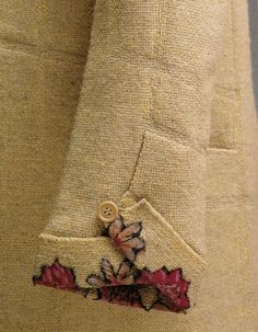 1927 coat by Gabrielle Chanel.- great cuff detail