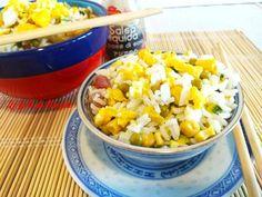 Riso+alla+cantonese+piatto+a+base+di+riso