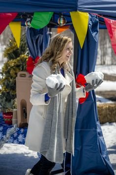 Cynthia is ready for a snowball fight! Are you ready for a Perfect Christmas, starring Susie Abromeit and Dillon Casey?