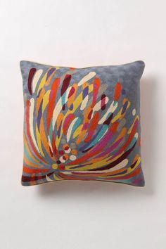 colorful pillow -- I could make this!