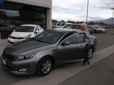 GAIL's new 2014 KIA OPTIMA! Congratulations and best wishes from Grand West Kia and Dax Lance.