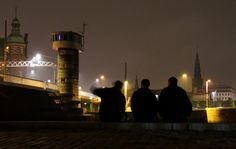 It's 3 am - time for one last beer on the Copenhagen Harbour Front