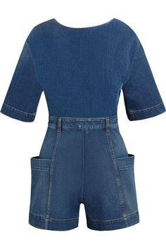 5ebd9b599f6 STELLA MCCARTNEY Open-Back Denim Playsuit.  stellamccartney  cloth  jumpsuits  Denim Playsuit
