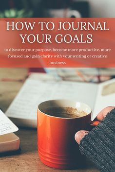 To discover your creative purpose, become more productive, more focused and gain clarity with your writing or creative business Writing Goals, Writing Notebook, Planning And Organizing, Journal Prompts, Organising, Discover Yourself, Creative Business, Writers, Gain