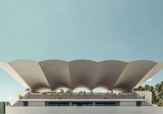 Roof of La Zarzuela Racetrack, Madrid, Spain. Eduardo Torroja