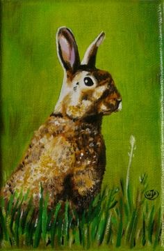 Hare, painting by artist JP Walter