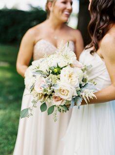Pretty pastel blooms: http://www.stylemepretty.com/little-black-book-blog/2015/10/14/elegant-fearrington-village-barn-wedding/ | Photography: Graham Terhune - http://grahamterhune.com/