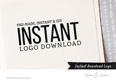 DIY instant download logo design photography logo by TheParisWife