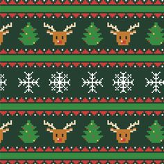 by instalovee – Diy Gifts For Friends Knitting Charts, Knitting Patterns Free, Knit Patterns, Cross Stitch Designs, Cross Stitch Patterns, Elephant Artwork, Ribbon On Christmas Tree, Christmas Cards, Christmas Decorations