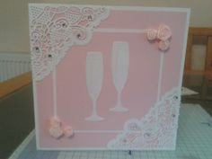 Flowers and lace special occasion card