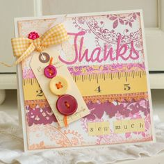Thanks Sew Much Handmade Greeting Card