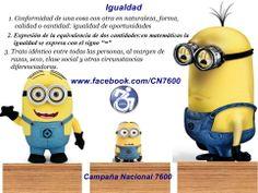 Queremos igualdad con equidad www.facebook.com/CN7600
