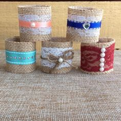 Napkin Rings. Burlap Napkin Rings. Rustic. Wedding Decor. Table Decor. Shabby Chic. Set of 25 by WineCountryAccents on Etsy