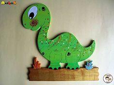 anjelicek / Menovka - dinosaurus Dinosaur Stuffed Animal, Toys, Handmade, Animals, Activity Toys, Hand Made, Animales, Animaux, Clearance Toys