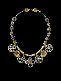 Princely Necklace with Large Pendants. Culture : Byzantine. Period : 6th – 7th…