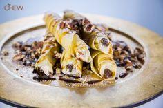 Daphne Oz and Carla Hall's Rum Raisin and Mascarpone Crepes recipe. #thechew