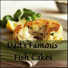 If you love fish cakes you are going to have to try this recipe - fyi it's gluten free!  Dad's famous fish cakes with aioli spread