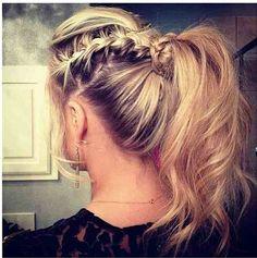 Cute French braid ponytail