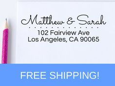 Return Address Stamp  address stamp  self inking by StampNouveau