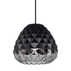 53087e3dbb59 LBL Lighting Facette Grande 15-Watt Black Smoke Integrated LED Pendant
