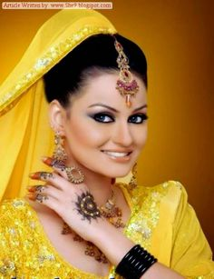 Latest Bridal Hairstyles 2014 for Mehndi