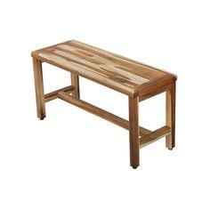 Earthy Teak Classic W Teak Shower Bench Shower Seat, Shower Floor, Utility Shelves, Teak Furniture, Unique Home Decor, Teak Wood, Earthy, Contemporary Design, Natural Wood
