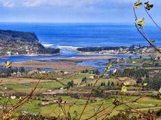 Google+Vistas de la Ria de Villaviciosa y playa de Rodiles foto Vicente Alonso