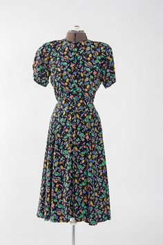 3c3060d36 Vintage Multicolored Liz Claiborne Dress (Petite 8)