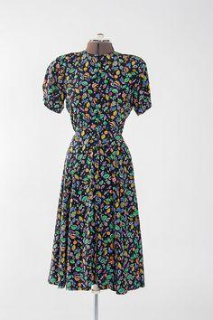 Vintage Multicolored Liz Claiborne Dress (Petite 8)