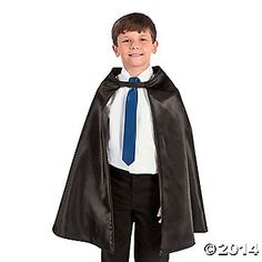"""Super hero cape for ring bearer.  15"""" around neck. not sure if it's too big..."""