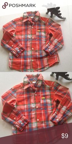 Boys plaid button down shirt Plaid button down shirt with collar. Excellent shape. Vibrant colors. Made by Carters. Size 3T Carters Shirts & Tops