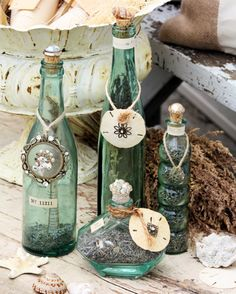 Decorated bottles - Songbird