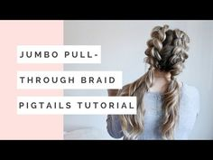 Watch how to do your own jumbo pull through braid pigtails perfect for day to day, the gym, or date night! Check out this beautiful tutorial! # pull through Braids watches Jumbo Pull Through Braid Pigtails Tutorial - Cassie Scroggins Cool Braid Hairstyles, Braided Hairstyles Tutorials, Step Hairstyle, Hairstyle Ideas, Cheer Hairstyles, Pigtail Hairstyles, Simple Hairstyles, Hairstyles 2016, Hair Tutorials