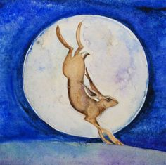Hare and the moon.drawingalineintime.blogspot.com