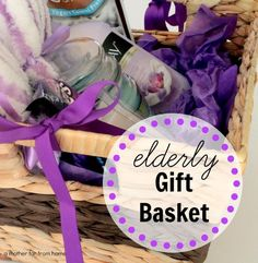 Gift basket for the elderly (and why kids should be around the elderly) DIY elde. Gift basket for the elderly (and why kids should be around the elderly) DIY elderly visiting gift b Gifts For Old People, Gifts For Elderly Women, Camping Gift Baskets, Diy Gift Baskets, Basket Gift, May Day Baskets, Gift Baskets For Women, Birthday Gift Baskets, Christmas Gift Baskets