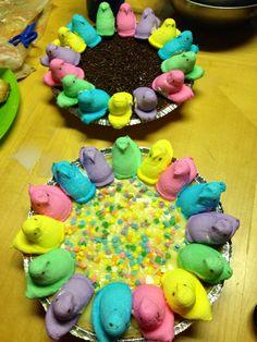 Easter desert Peeps pie!